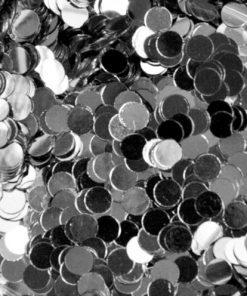springle effect dotties van Mistero Milano 5008 zilver