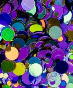 springle effect dotties van Mistero Milano metallic 5047