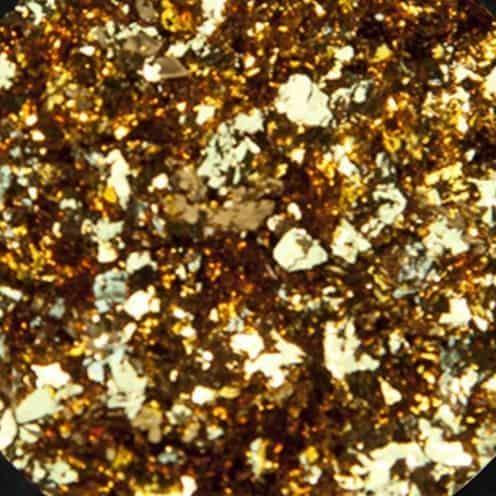 alu flakes van mistero milano nail art gold 5052