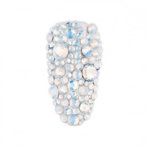 nailart, swarovski, cyrkonie, ss4, opal white, glass diamon, strass, mistero milano, 5070, mix, ss20