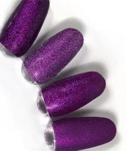 rainbow effect, nail art, mistero milano, nagels, decoratie, versiering, styling, purple magenta, paars