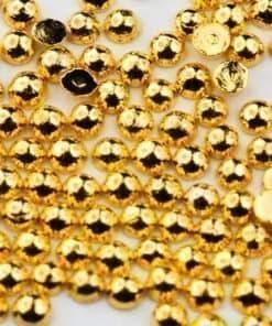 golden half beads, mistero milano, nail art, 5083, goud, halve caviar balls, goede hechting