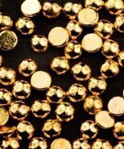 golden half beads, mistero milano, nail art, 5083, goud, halve caviar balls, goede hechting, 1,5mm